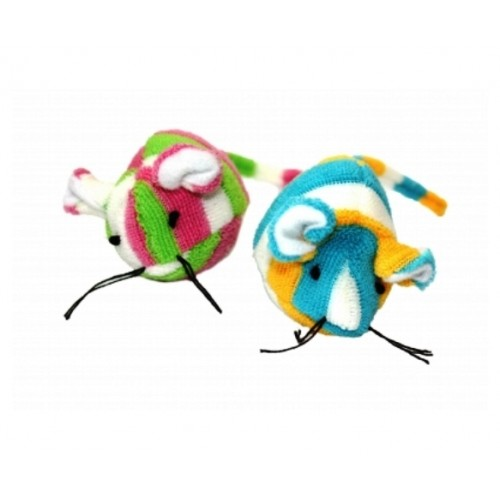 Candy Stripe Mouse - cat toy