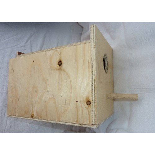 Wooden Nest Box - Budgie