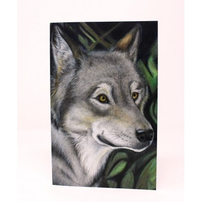 Grey Wolf - Large Card