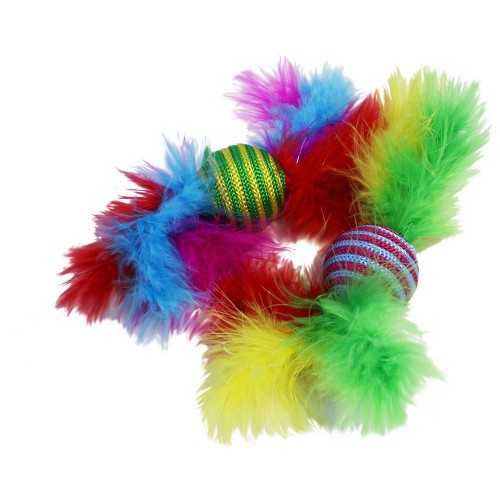 Feather Rattler - cat toy