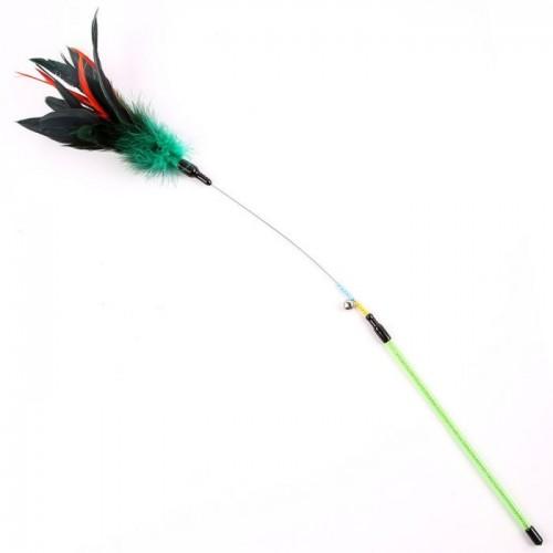Feather  Cat Teaser - green