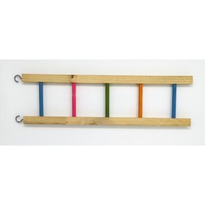 Wooden Ladder - pastel rungs