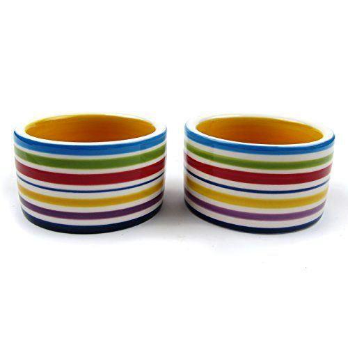 Ceramic Dish - Coloured Stripe