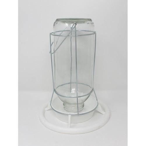 Glass Lantern Feeder - Wire Frame