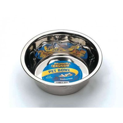 Stainless Steel Pet Bowl - Paw Prints